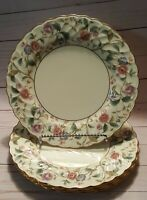 "New Noritake La Prada 10 1/2"" Dinner Plates Set Of 4 Cream Swirl Gold Rimmed Lot"