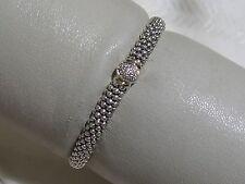 Designer LAGOS S/S 18K Single Station Twilight Caviar Rope Bracelet, size 6 3/4