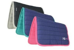 HySPEED Quilted Reversible Cotton Horse Poly Saddle Pad /Cloth / Numnah FREE P&P