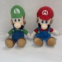 """Super Mario Bros. Nintendo Wii 2010 Plush Stuffed Doll 8"""" Toy """"MARIO & LUIGI"""""""