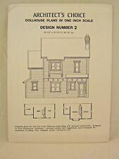 Dollhouse Plans Design 2 Architect's Choice 1:12 Scale Victorian Queen Anne