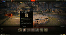 world of tanks account NA E-25  KV-5  T-34 3900 Gold 4 Tier X and more