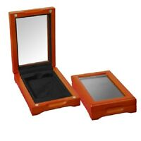 1 Certified Coin Oak Display Box Slab Case PCGS NGC IGC New ANACS Safe Deposit
