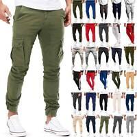Mens Casual Jogger Pants Cargo Sports Jogging Sweatpants Hip Hop Slacks Trousers