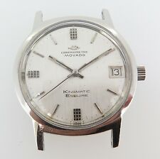 .Vintage Movado Chronometer Kingmatic Esquire Sub Sea 28j steel mens watch