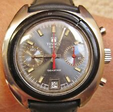 Tissot Seastar Valjoux 7734 SS Tachy Gents Chrono Date Watch Serviced Warranty