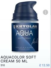 HALOWEEN OFFER! KRYOLAN AQUACOLOR SOFT CREAM 50ML - SHADE 510 /BLUE