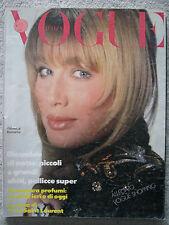 VOGUE ITALIA 1986 topless Yasmin Le Bon Kristen McMenamy Beatrice DALLE Talisa S