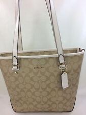 New COACH F34603 F58294 Zip Top Tote Handbag Purse Shoulder Bag Cornflower Blue