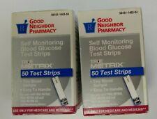 100 Good Neighbor True Metrix Diabetic Blood Glucose Test Strips Exp 2/21