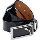 New PUMA Golf Men's Enamel Skinny Leather Belt, 052142, Choose Color and Size