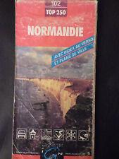 carte IGN rouge 102 top 250  normandie 1992