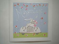 """PAPYRUS ~ EMBELLISHED """"MARRIAGE ~ JUST MARRIED!"""" GREETING CARD + ENVELOPE"""