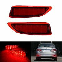 2x Round Reflector RED LED Rear Tail Brake Stop Light For Third Toyota COROLLA