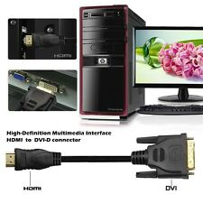 For Blu-Ray Player 6FT HDMI to DVI-D 24+1 Gold Adapter Converter Cable HDTV 3D