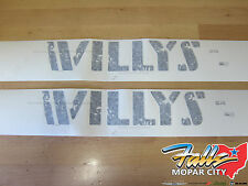 2007-2018 Jeep Wrangler Willys Wheeler Hood Decal Sticker Set of Two Mopar OEM