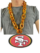 NFL San Francisco 49ers Rich Gold Fanchain Chain Necklace Foam MagnetUSA