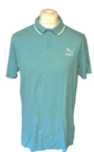 PUMA Men's Polo T Shirt XL Extra Large Blue S/S