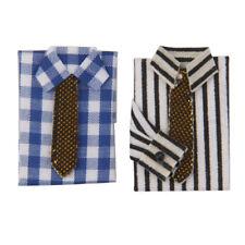 1/12 Dollhouse Bedroom Decor Miniature 2x Decorative T-shirt w.Necktie
