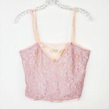 Vintage Victoria's Secret Gold Label Pink Lace Camisole Women's Small Crop Fit
