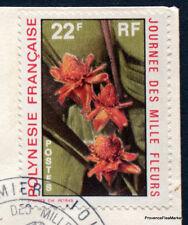 Polynésie Française FDC Enveloppe  1er jour  timbre MILLE FLEURS MA47