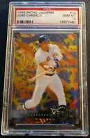 1996 JOSE CANSECO METAL UNIVERSE #12 PSA 10 RED SOX POP 1 (931)