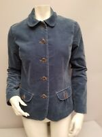 Womens Lands End Blue Blazer/Jacket Size Small 6 Suede look