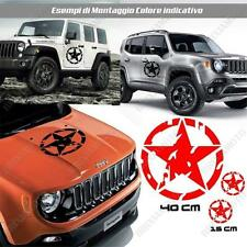 KIT 3 STICKERS STAR MUD BODYWORK GRAPHIC JEEP RENEGADE OFF ROAD RED