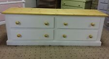 HANDMADE AYLESBURY NEXT WHITE AND ANTIQUE PINE TV UNIT** FULLY ASSEMBLED**
