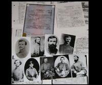 12 Confederate Generals PHOTO Lot + 17 DEATH CERTIFICATES Civil War CSA Photos