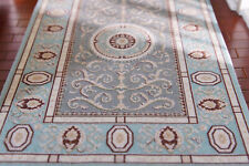 Beautiful Light Blue 1/12 French Swirls Dollhouse Miniature Rug