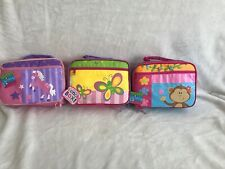 New listing New 3 Stephen Joseph Lunch Boxes Unicorn, Butterfly , Monkey Theme Adorable