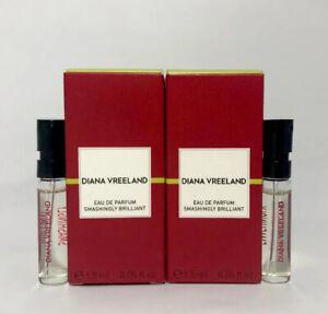2 Diana Vreeland Smashingly Brilliant EDP Spray Sample - 0.05 oz. 1.5ml. - Boxed