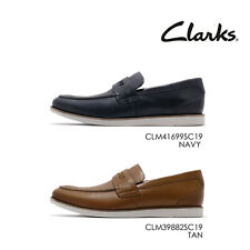 Clarks Raharto Way Leather Men Casual Slip On Penny Loafers Shoes Pick1