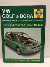 VW GOLF & BORA 1998 to 2000 R to X HAYNES MANUALS 3727