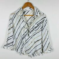 Faithfull The Brand Womens Blouse Top Size Large Long Sleeve Gorgeous Design