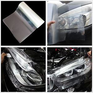 Car Headlight Transparent Tint Vinyl Wrap Film Sheet Overlay Sticker 100 x 30cm