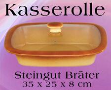 Kasserolle Bräter Steingut Topf Gasofen Gartopf Auflauf Gratin Nudeln Lasagne #1