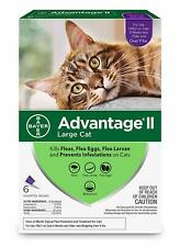Bayer Advantage Ii for Large Cats Over 9 lbs - 6 Pack - New