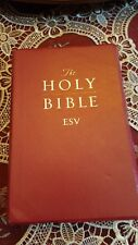 HOLY BIBLE ESV ENGLISH STANDARD VERSION - CROSSWAY SOFT FEEL RED
