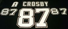 Sidney Crosby Rookie 2005-2006 Lettering Kit & Name Plate Sewn Glacier Twill