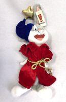 Bugs Bunny Plush Six Flags Wizard 2001 Looney tunes Stuffed Warner robe hat NOS