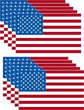 PACK OF 10 American Flag Decal USA Sticker Made in USA military marines Army 3x5