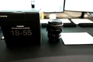 FUJIFILM FUJINON XF 18-55mm f/2.8-4.0 LM R OIS Lens - Barely used, UV filter