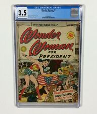Wonder Woman #7 CGC 3.5 KEY (Wonder Woman for President) Winter 1943 DC Comic