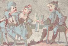 NY & PARIS TRADE CARD, SOUVENIR OF CENTENNIAL, CHAS. MOLLER, DECALCOMANIE C355