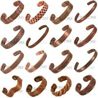MENS WOMENS SOLID COPPER MAGNETIC BRACELET RING PAIN RELIEF HEALING ARTHRITIS