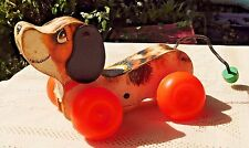 """Vintage 1968 Fisher-Price """"Little Snoopy"""" Wooden Pull Toy - #693"""