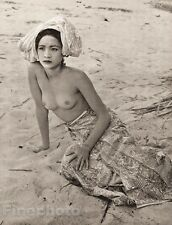 1950's Vintage MALAY FEMALE NUDE Asian Oriental Malaysia Photo Art JOHN EVERARD