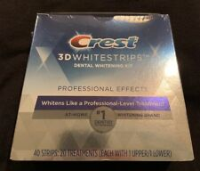 Crest 3D Whitestrips Professional Effects sealed new 40 strips exp 6/2022 $59.99
